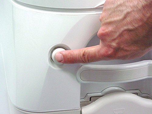 Dometic 301097206 970 Series Portable Toilet - 2.6 Gallon, Gray