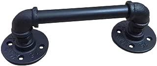 Cupboard Drawer Door Handle Pull Knob Heavy Duty Steampunk Industrial Black Iron Pipe Pull Handles Sliding Barn Doors Handle Handrail Grab Bar For Gate Garage Shed Wooden Door Bar Restaurant Cafe Mote