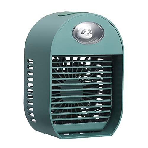 Flashing Ventilador de Aire Acondicionado humidificador de Escritorio portátil Mini Enfriador de Aire Carga USB Pequeñas Herramientas de enfriamiento Personal para el hogar