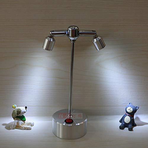 ZSD74 Accu-led-spots, vitrine, tv-achtergrondverlichting, wandlamp, sieraden, vitrine, creatieve kleine lantaarn, 2 hoofd