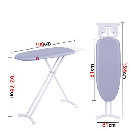 LWXTYAdjustable Hoogte Pp Resin Top Strijkplank, Opvouwbare Tafel Top Strijkplank Met Extra Stabiele Benen Brede Board Irons Met Stoomstrijkijzer Rest