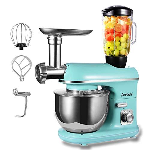 Ankishi Robot de cocina, poco ruido, amasadora con doble gan