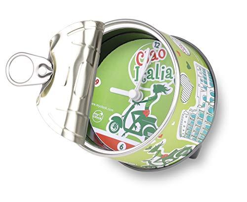 my clock MyClock Reloj de Mesa Magnético, Personalizable, Regalo Original con Foto, Marco de Fotos, DIY - Ciao Italia
