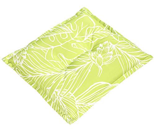 Dehner Sitzkissen York, ca. 50 x 50 x 6 cm, Polyester, grün/weiß