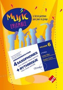 Hit Diffusion Muziek enemble. 6 + CD - 4 Saxofonen + RYTHMIQUE Jazz&Blues noten gemengd ensemble