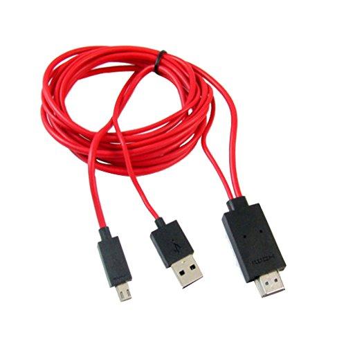 H HILABEE Micro USB A HDMI Cable Adaptador De TV Cable para Samsung Galaxy S3 S4 N7100