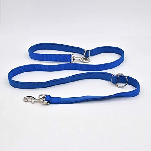 YUJI Verstellbare Hundeleine Handfreie Hundeleine Nylon Hundeleine, Blau, L
