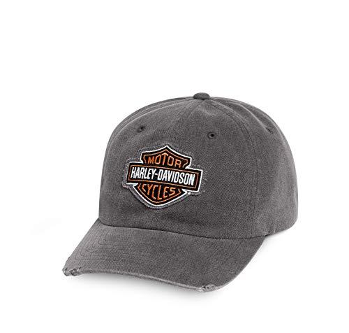 HARLEY-DAVIDSON Grey Frayed Logo Cap Schirmmütze
