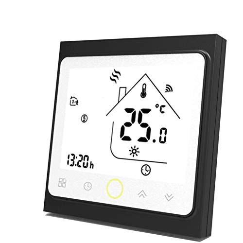 termostato wifi ferroli Qiumi Termostato WiFi per riscaldamento di caldaie a gas/acqua funziona con Amazon Alexa Google Home IFTTT Dry Contact 5A 95~240V