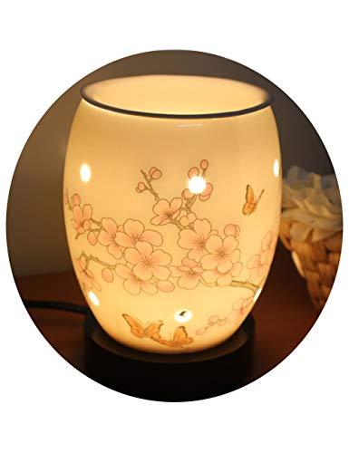 Lámpara De Electricidad Enchufable De Cerámica Lámpara De Aceites Esenciales Adecuada -...