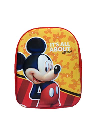 Disney Mickey Mouse Backpack , Kindergarten Backpack , Free Time Backpack , 3D Relief Print,32cm - Mickey Mouse Kinderrucksack , Avengers Rucksack, Kindergartenrucksack, Freizeitrucksack, 3D-Reliefdru