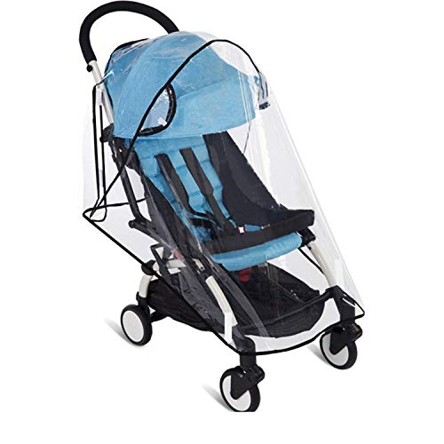 Stroller Rain Cover Universal Stroller Cover for Toddler Umbrella Stroller LLUFO Waterproof Snow Wind Weather Shield,Food Grade EVA No Odor