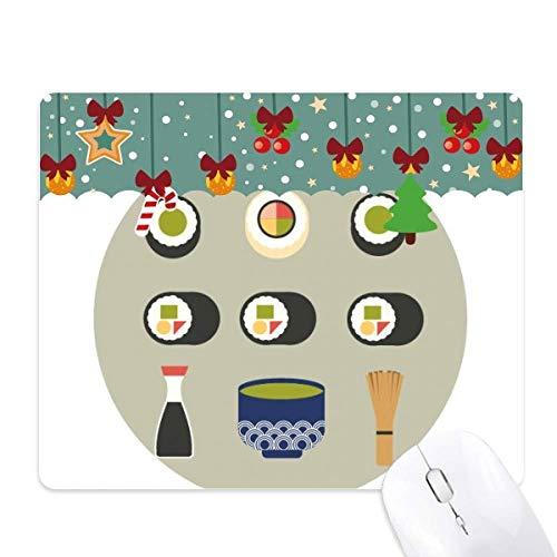 Traditionele Japanse lokale eten Sushi muismat spel Office Mat Kerstmis Rubber Pad