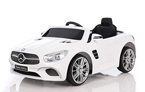 Mercedes Benz SL400 Blanche Voiture Electrique pour Enfant 25W, 110 x 64 x 48cm - Phares...