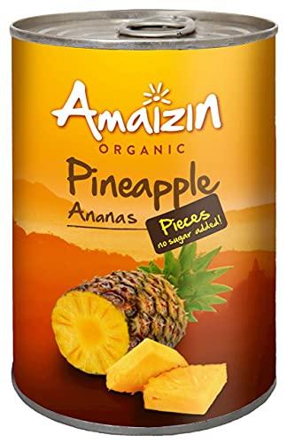 Piña en su jugo Troceado bio Amaizin, 400 g