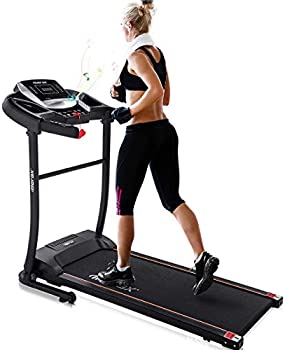 Merax Electric Folding Treadmill with Speakers