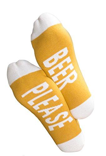 Clark Crown 1 Paar Under-Statement-Socks, Herrensocken mit witzigen Sprüchen, lustige Geschenke-Socken (One Size (41-45), 1 Paar Beer Please)