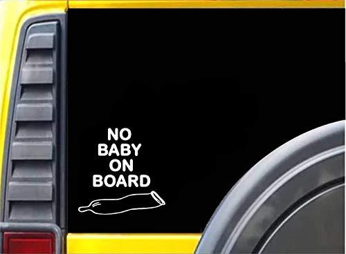12.7cmx12.7cm kein Baby an Bord benutzte lustige Autoaufkleber des Kondoms für Autolaptop-Fensteraufkleber