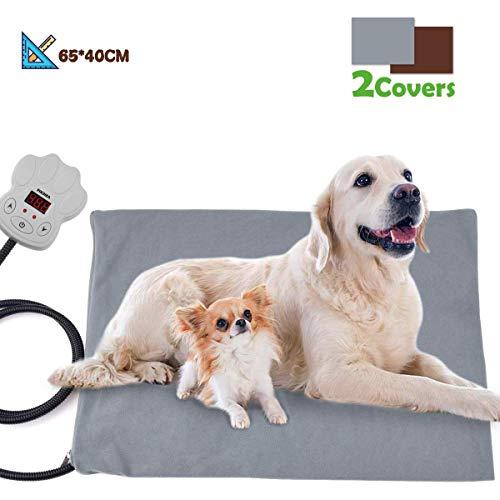 FOCHEA Manta Eléctrica Mascotas, Cojín de Calefacción para Perros y...