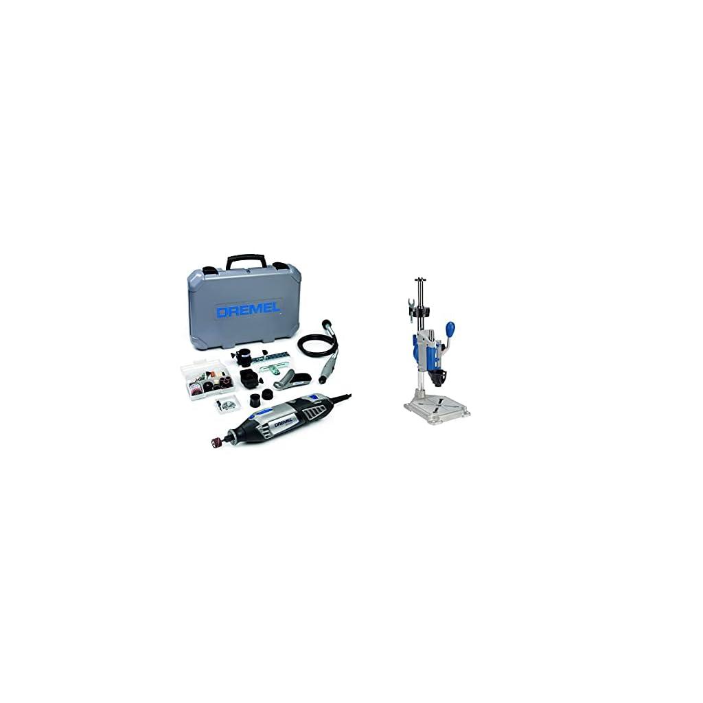 Dremel 4000 Outil Rotatif Multifonction 175W & Support perceuse à colonne DREMEL – Dremel 220, Workstation pour Dremel…