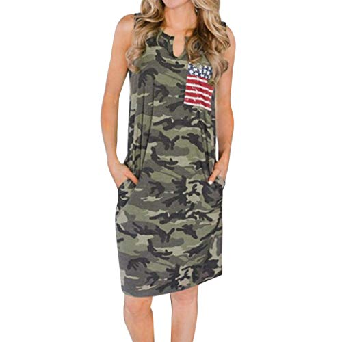 LILIHOT Ärmelloses Damen-Kleid mit Camouflage-Print Lace Druck mit V-Ausschnitt Riemchen Jumpsuit Mode Frauen Ärmellos High Waist Kurz Overall Elegant Strandkleidung Playsuits