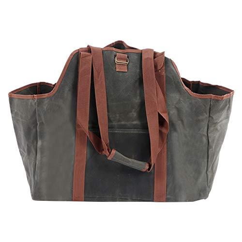 DFGH Brennholz-Tasche, Brennholzträger Wasserdicht Gewachster Leinwand-Protokollenträger-Taschen-Tasche Brennholz-Halter-Holz-Tragetasche Für Den Außenbereich