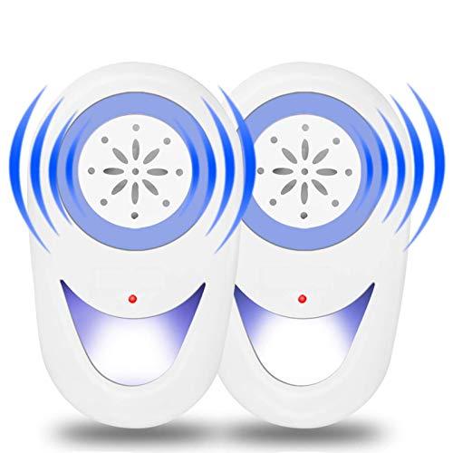 seenlast Repellente Ultrasuoni, 2 Pack Antizanzare Ultrasuoni Elettrico Repellente per Topi Scarafaggi...