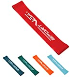 SportVida Widerstandsbänder Krafttraining | Set Gymnastikband | Resistance Loop Band | | Fitnessbänder für Training | 5 Stärken Zugkraft bis 25 kg (Rot 5-10kg)
