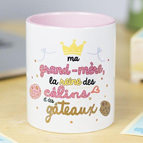 Nos pensées - Tasse Phrases et Dessins Amusants (Ma Grand-mère: la Reine des câlins et des gâteaux) Cadeau Original pour Une Grand-mère