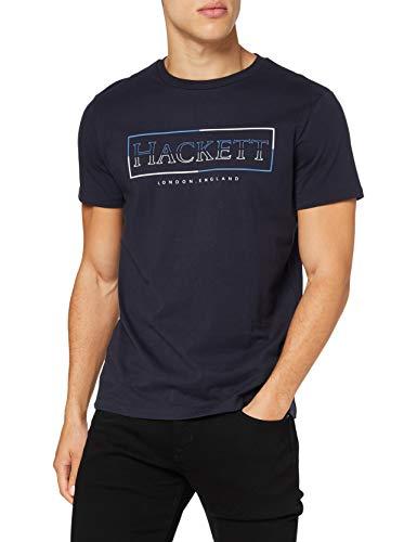 Hackett London Hackett Box Camiseta, 5ezdk Navy, L para Hombre