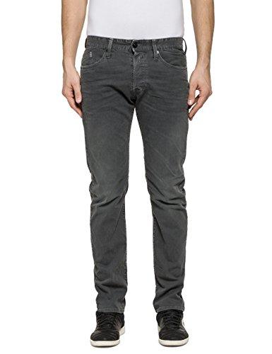REPLAY Waitom Jeans, Gris (Dark Grey 30), 29W x 32L para Hombre