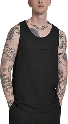 Urban Classics Herren Mesh Panel Tee T-Shirt, Schwarz (Black 00007), Medium (Herstellergröße: M)