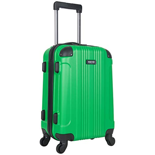 KENNETH COLE REACTION Out Of Bounds Luggage Collection Lightweight Durable Hardside 4-Wheel Spinner Travel Suitcase Bags, Kelly Green, 20-Inch Carry On