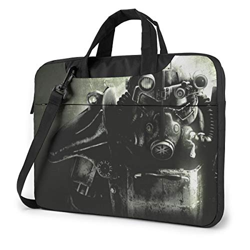 Laptop-Tasche Fallout Brotherhood of Steel Fallout Tablet Aktentasche Ultraportable Schutzhülle Canvas für 13 Zoll MacBook Pro/MacBook Air/Notebook Computer