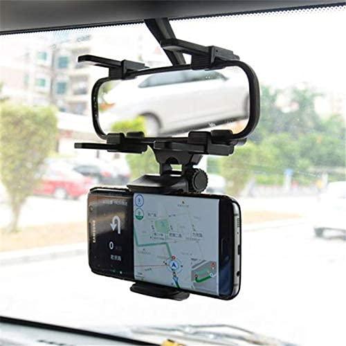 Soporte Automotriz Smartphone Soporte Clip Tipo Carloom Espejo Firmemente Fijo Portátil Portátil Expansión y Contracción
