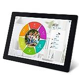 SSA新版wifi デジタルフォトフレーム 10.1インチwifi対応 1280 * 800高精細画素 写真とビデオをいつでもどこでもデジタルフォトフレームに更新できる 展示が便利だ いい贈り物 黒い