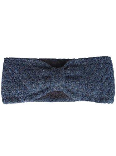 Diadema con lazo - Diadema de punto de alta calidad para mujeres Mujeres Niñas - Con forro polar - Lana - Protección auditiva - Banda para el cabello - cálido suave para el otoño Invierno cora