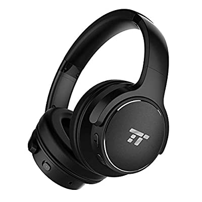 Noise Cancelling Headphones, TaoTronics Active Noise Cancelling Wireless Over Ear Headphones with 40 Hour Playtime (HiFi Stereo CVC 6.0 Built-in Mic Foldable Design) from TaoTronics