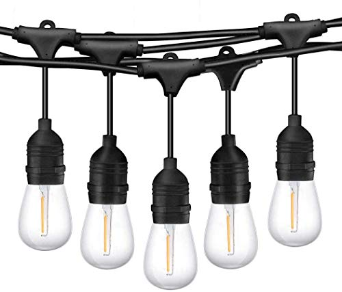 TWINSLUXES LED Patio Lights String (SL-12W-24FT-P)