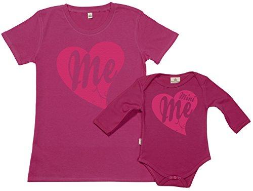 SR - dans Une boîte Cadeau - Me & Mini Me Ensemble de pour Mère et bébé, Rose, S & 0-6 Mois
