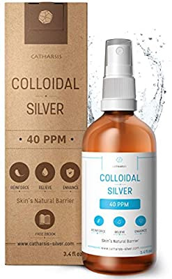 Premium Colloidal Silver Spray 40 PPM 100mL 100% Natural Superior Concentration, Smaller Particles = Better Results Certified by 3 Independent Laboratories Choose a Specialist Institut Katharos