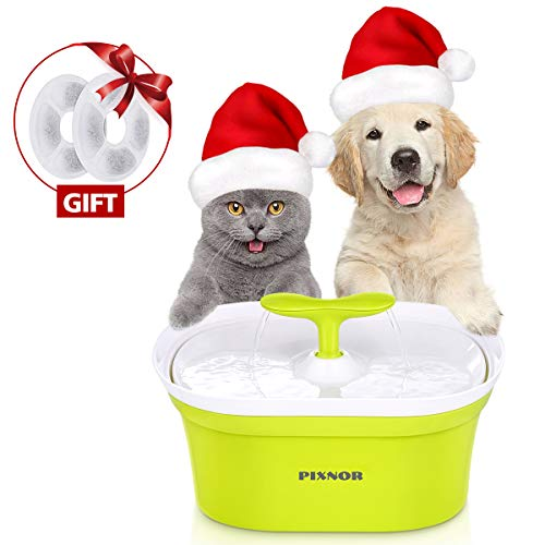 PIXNOR Pet Water Fountain, 95oz/2.8L Automatic Cat Water Fountain Dog Water Dispenser with 2 Replacement Filters for Cats, Dogs, Fresh Drinking System with multistage Charcoal Filter