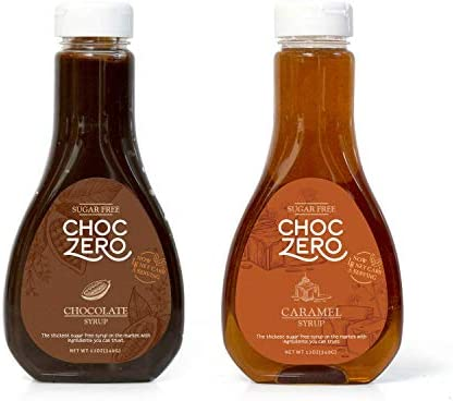 ChocZero s Chocolate and Caramel Syrup Sugar Free Low Net Carb No Preservatives Gluten Free product image