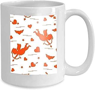 Tasse de café Tasse de thé Accueil Cupidon mignon tire Bow Hearts Love s Cupidon mignon tire Bow Hearts Love Gorgeous 110z
