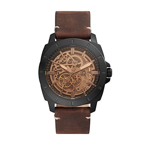Fossil - Reloj automático de Cuero para Hombre BQ2429
