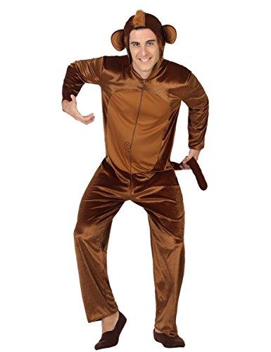 Atosa-28426 Disfraz Mono, color marrón, M-L (28426)