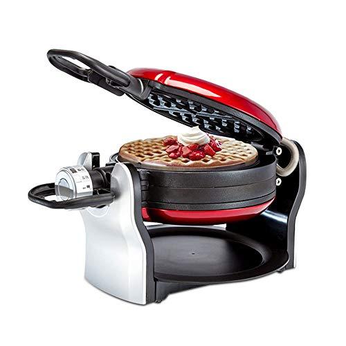 Lamyanran Gofrera Profesional Hogar Waffle máquina Plana, Acero Inoxidable Belga Wafflera, Voltear 180 Grados,...