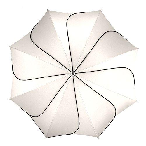 pierre cardin Regenschirm Taschenschirm Auf-Zu Automatik Sunflower Black & White Edition