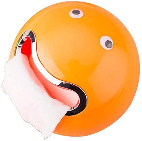 Yangsanjin handdoekhouder van kunststof, rond, kleur: oranje, maat: 18,5 x 18,5 cm