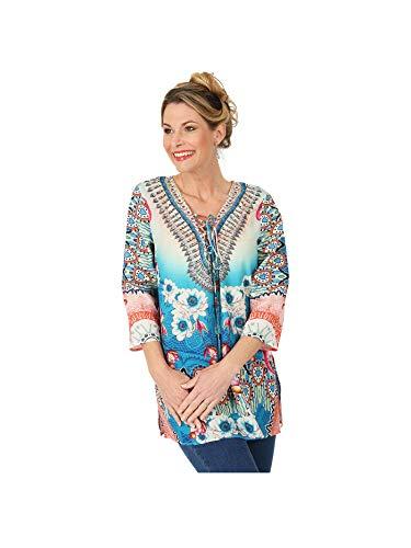 ÉTOILE DE MER Tunika, Multicolor   Damenmode   Damen-Bluse   Langarm-Bluse   Oberteile Damen